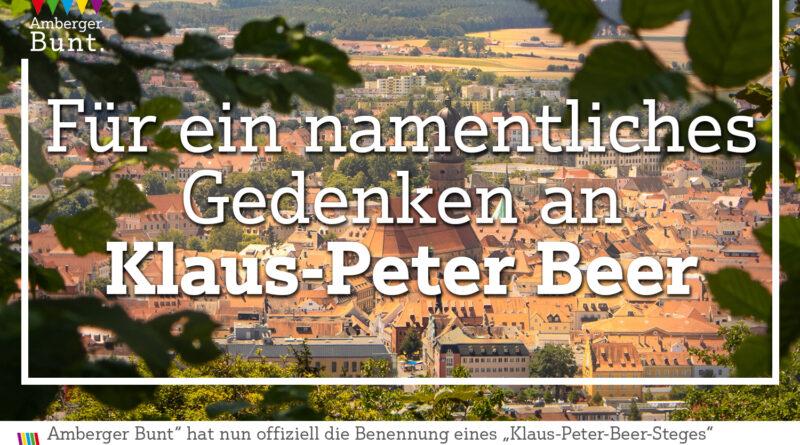 "Amberger Bunt beantragt Benennung eines ""Klaus-Peter-Beer-Steges"""